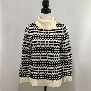 Talbots turtle neck sweater with buttons